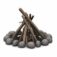 3d model campfire camp