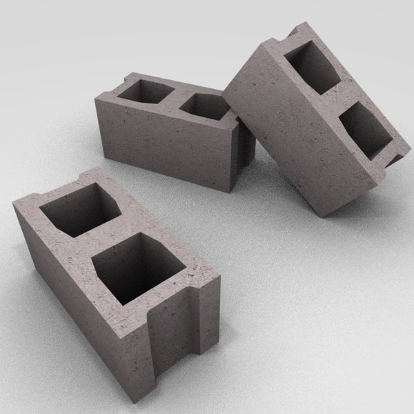 Cinder block cinderblock 3d obj - What is cinder block made of ...