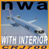 CRJ700 NWA with interior