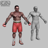 boxer male athlete 3d x
