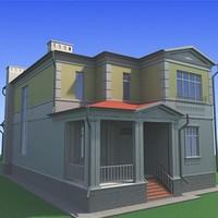 3d model houses home