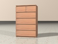 MALM chest of drawers.c4d