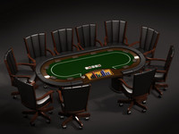 3d model poker tables casino