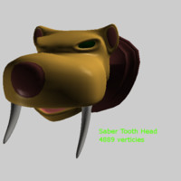 3ds max saber tooth head