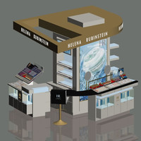 3d model of loreal hr stand