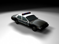 3d low-poly police car escocity model