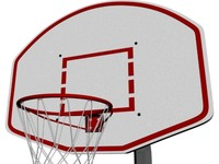 Outdoor basketball rim