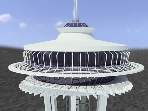 3ds max seattle space needle - space needle... by 3d_addict