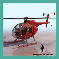3ds max 500 hughesd helicopter