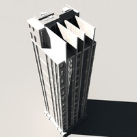 3d skyscraper building model