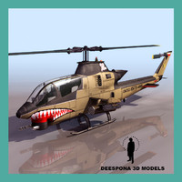 3d model of cobraattack ah11us helicopter