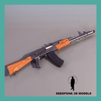 3d asault rifle gun ak 74 model