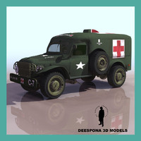 ALLIED AMBULANCE WC 54 WWII