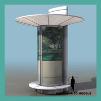 advertising street column 3d model