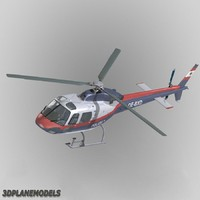 3d model eurocopter police 355 helicopter