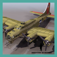 b-17g bomber flying fortress 3d max