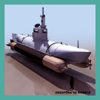 3d biber german minisubmarine 1944