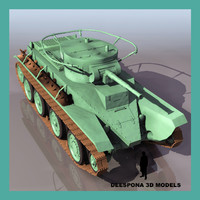 3d bt 5 soviet russian tank model