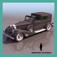 3d cadillac 1930 luxuryt vintage car
