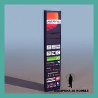 3d model dashboard gas station repsol