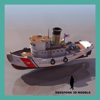 3d model coast guard tug ship