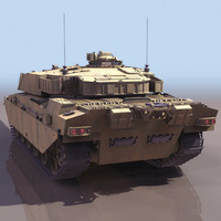 british fv4030 4 challenger 1 3d model
