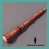 3d max clarinet musical instrument woodwind