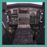 3d max cockpit airplane xb70 cabine