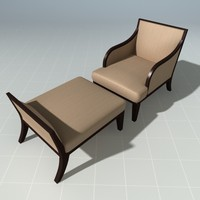 Henredon Lounge Chair with Ottoman