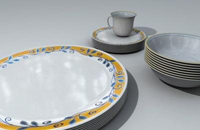 3d corel dinnerware