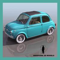 3d fiat 500 italian popular model