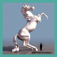 3ds max ramping horse statue sculpture