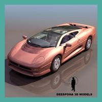 british xj concept car 3d model