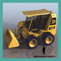 3d model jbc robot digger