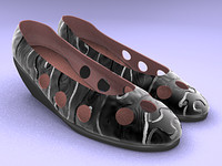 3d light shoe model
