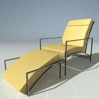 modern lounge chair dcota 3d model