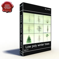 Lowpoly Winter Trees Collection