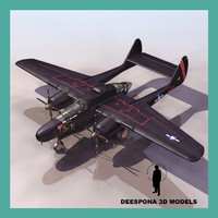 3d p-61 fighter black widow