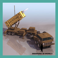 patriot missile launcher truck 3d model