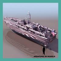 pt 109 torpedo boat 3d model