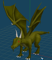 3d green dragon