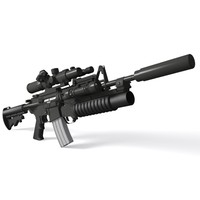 3ds max m4a1 carbine sopmod m4