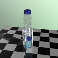 bottle ramune 3d model