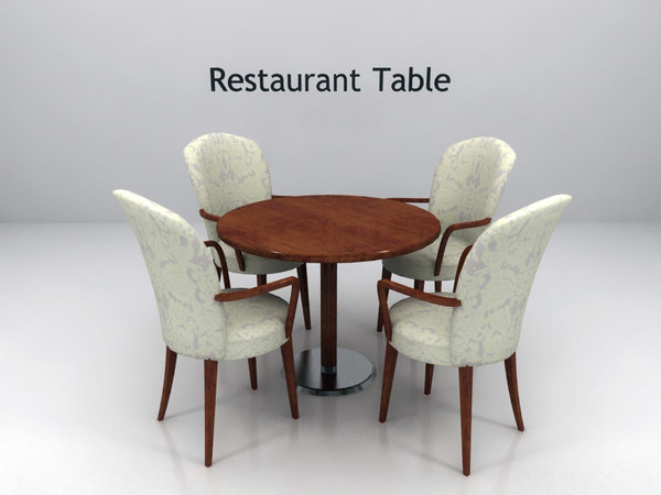 Tables And Chairs For A Restaurant : Restaurant Table And Chairs 3d model table chairs