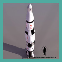3d x apollo saturn v rocket