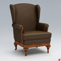 3d model chair lounge