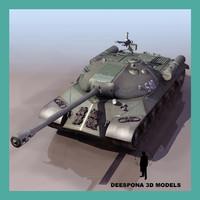 3dsmax iosif stalin js-3 russian tank