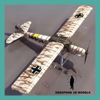 Fieseler Fi 156 Storch WINTER GERMAN PLANE WWII