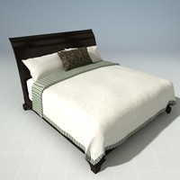 3d henredon sleigh bed model