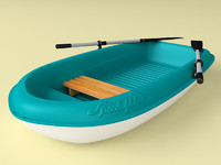 3d boat dinghy hull